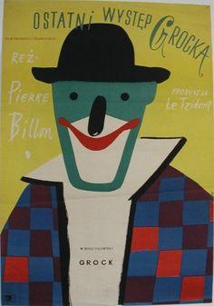 Henryk Tomaszewski (1914-2005) – Affiche (1956) pour le film Au revoir Mr Grock, de Pierre Billon (1949)