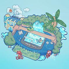 Route 119 from Pokemon Ruby & Sapphire Pokemon Life, Pokemon Fan Art, My Pokemon, Cool Pokemon, Pokemon Games, Sapphire Pokemon, Pokemon Emerald, Ruby Sapphire, Kawaii Drawings