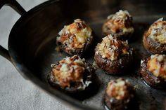 Creamy Sausage-Stuffed Mushrooms