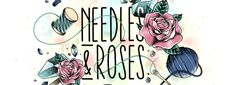 Needles and Roses Glitter, Rose, Pink, Roses, Sequins, Glow