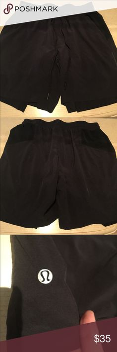 Lululemon Men's running shorts size Lg In great condition. Lightweight material. Perfect Father's Day gift for your special man! Real men wear Lulu 😝 lululemon athletica Shorts