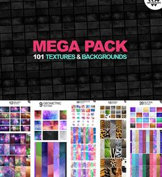 Mega pack of textures and backgrounds