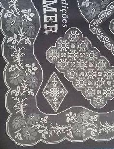 Gallery.ru / Фото #113 - φιλε 2 - ergoxeiro Filet Crochet, Crochet Borders, Crochet Stitches, Holiday Crochet Patterns, Yarn Crafts, Doilies, Hand Embroidery, Needlework, Butterfly