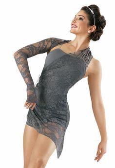 Lace Draped Short Unitard; Weissman Costumes