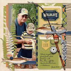 scrapbook layouts outdoor   Outdoor Life Collection Biggie, designed by Brandy Murry, Scrap Girls ...