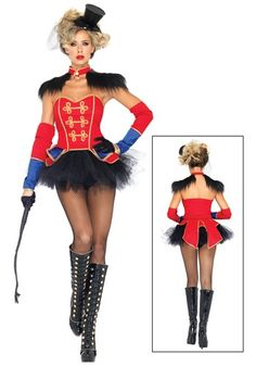 Ring Mistress Costume - idea - can't order this one - the 'girls' definitely wouldn't fit.