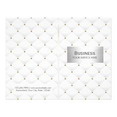 Makeup Artist Salon Spa Luxury Quilted Bi-Fold Flyer