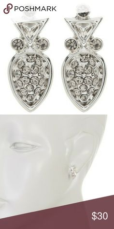 "Last chance! House of Harlow Teardrop Earrings Nwt! House of Harlow 1960 Embellished Teardrop Studded Earrings  -new in packaging!  -silver tone embellished teardrop earrings -approximately 0.75"" Length (a small size) -post back House of Harlow 1960 Jewelry Earrings"
