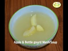 Apple and Bottle gourd puree/ mash is a wonderful weaning recipe for babies who have just started on solids.