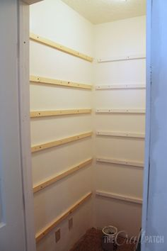What could be better than floor-to-ceiling shelving in a pantry or closet? It is the best way to maximize storage in a small space. We recently built a pantry i…