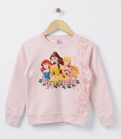 Blusa infantil    Gola redonda    Manga longa    Com estampa    Marca: Princesas    Tecido: Moletom    Composição: 100% Algodão         COLEÇÃO INVERNO 2016         Veja outras opções de produtos    Princesas.