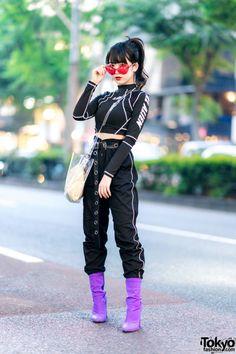 aspiring Japanese idol Misuru on the Tokyo Fashion Tokyo Fashion, Japan Street Fashion, Fashion Male, Harajuku Fashion, Look Fashion, Korean Street Fashion Urban Chic, Fashion Models, Fashion Black, Fashion Spring