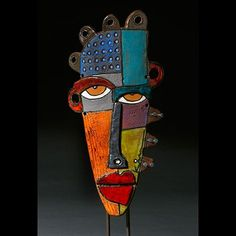 kimmy cantrell art to do next year!Kimmy Cantrell, mixed media- very cool! African American Artwork, African Art, Kimmy Cantrell, Keramik Design, Ceramic Mask, Art Sculpture, Cardboard Sculpture, Sculpture Projects, Abstract Faces