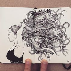 Moleskine Black and White Ink Drawings – Art Ink Pen Drawings, Drawing Sketches, Art Inspiration Drawing, Art Inspo, Moleskine, Ink Illustrations, Illustration Art, White Ink, Art Sketchbook