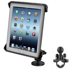 Flat Surface Car Mount  Rail Motorcycle Mount Kit Fits Apple iPad 1 2 3