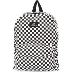 Vans chess print backpack (94 ILS) ❤ liked on Polyvore featuring men's fashion, men's bags, men's backpacks and white