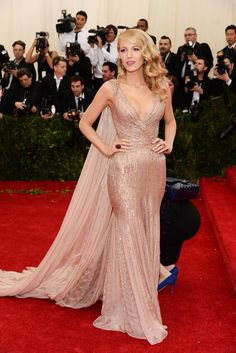 Blake Lively in Gucci. Met Gala 2014.