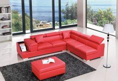 T306 Modern Leather Sectional Sofa - Modern Sofas - Living Room