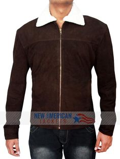 The Walking Dead Rick Grimes Season4 Suede Brown Motorcycle Biker Leather Jacket