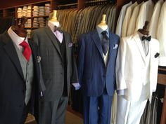 Men's Black and Blue Suits at A.Smith Clothiers