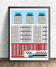 Tlatelolco housing print