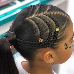 The Cornrow Killas on Ins - Babys Hair-Styles Natural Hairstyles For Kids, Kids Braided Hairstyles, Box Braids Hairstyles, Braided Ponytail, Little Girl Hairstyles, Little Girl Braids, Braids For Kids, Girls Braids, Big Braids