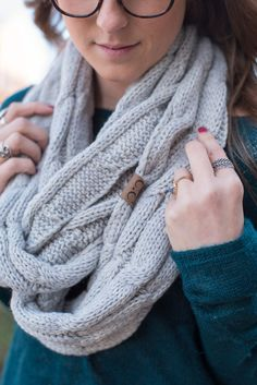 7e4fd763ef51c CC cable knit tri blend infinity scarf heather grey