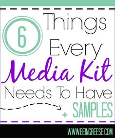 6 Things Every Media Kit Needs to Have Social Media Tips, Social Media Marketing, Facebook Marketing, Marketing Tools, Content Marketing, Internet Marketing, Business Tips, Business Planning, Business Cards