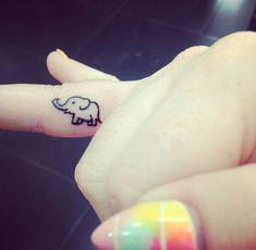 coolTop Tiny Tattoo Idea - Elephant tattoo, Thailand, tiny, small tattoo, cute...