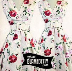 This dress is perfect for summer weddings or just simply looking fabulous every day! #blamebetty #floral #pinupfashion