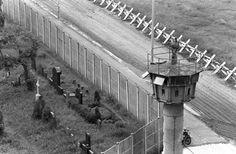 Berlin Wall when it was still standing