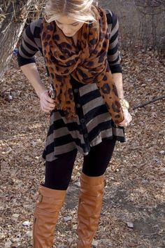 PolishedandPink: Mixing & Matching, stripes and leopard