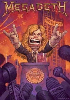 Dave Mustaine of Megadeth Heavy Metal Rock, Power Metal, Heavy Metal Bands, Hard Rock, Thrash Metal, Matt Dixon, Rock Bands, Megadeth Albums, Rock N Roll