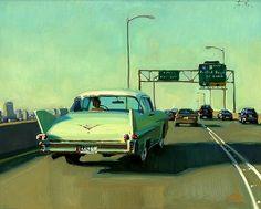 "Antique moderne par Jennifer Diehl - Serre Beaux-arts ""Modern Antique""  par Jennifer Diehl  Huile • 16,00 ""x 20,00""  $ 1650,00"