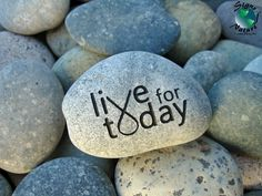 Live+for+Today+Cancer+Awarness+Stone+2in3in++by+SignsofNature,+$15.00