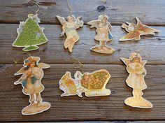 Vintage MerrimackVictorian Christmas Die Cut