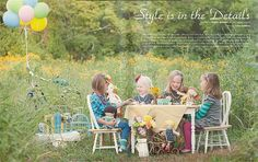 little girls high tea party #tea party #styled photo #turquoise #yellow