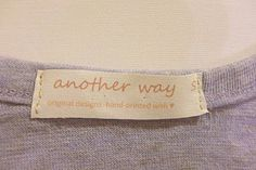 DIY: Clothing Labels. read post comments for more ideas