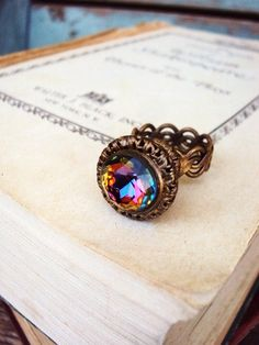 Vintage Antique Ring Cocktail Ring Antique by primitivepincushion