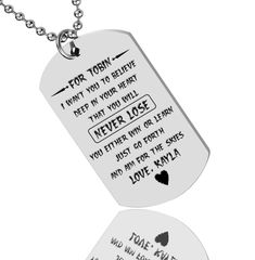 Sammy Luxury Dog Tag Necklace Personalized Name Gifts