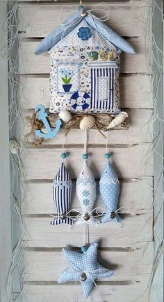 56 Best Ideas For Sewing Crafts Room Fabrics Sewing Toys, Sewing Crafts, Sewing Projects, Craft Projects, Hobbies And Crafts, Diy And Crafts, Arts And Crafts, Deco Marine, Fabric Fish