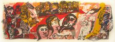 'Aida Etc' (1989) by William Kentridge, Robert Hodgins & South African artist Deborah Bell (b.1957).Silkscreen, edition of 20, 39.5 x 90 cm. via Rose Korber Art