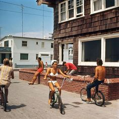 Hermosa Beach, 1967, stingray bikes, and butterfly handlebars. I have dragged my hand on this brick wall too many times to count.