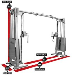 Legend Fitness 954 Selectorized Cable Crossover Dimensions