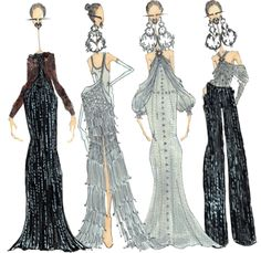 J.Larkowsky Illustration — Givenchy Haute Couture Spring 2012: