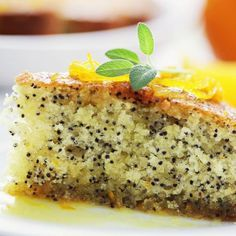 Torta ai semi di papavero e arancia
