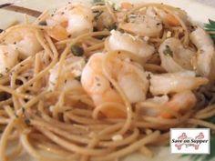 Shrimp Linguini in Lemon Caper Sauce