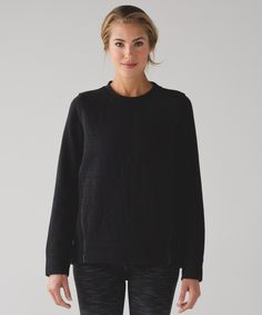 Cool down in comfort in this   naturally breathable   long-sleeve crew.