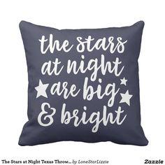 The Stars at Night Texas Throw Pillow - White
