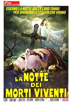 Night of the Living Dead, 1968 - Italian poster
